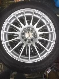 "16"" Multi Stud Alloy Wheels & Good Tyres"