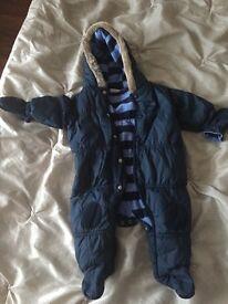 Baby next snowsuit 3-6months
