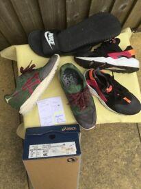 Nike Huarache & Asics Trainers £15 each