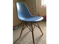 Set of 4 blue retro dining chairs - excellent quality.