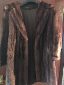 Flank Musquash Fur Coat