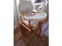Mamas and Papas Millie and Boris High Chair/Toddler Table