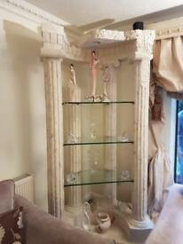 2 Roman Greek marble corner unit