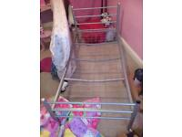 Silver metal single bed for sale
