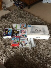 Nintendo wii bundle with games