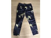 Women's Ted Baker Duck Bird Print Slim Fit Trousers Size UK 8