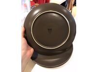 Ikea brown dinner plates 10 inches