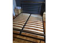 Chrome metal 5ft King size bed frame