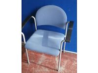Blue chair with metal frame and armrests (Delivery)