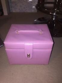 Beautiful pink jewellery box
