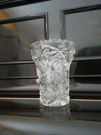 *CHARITY SALE* VASE-- cut-glass, beautiful, vintage