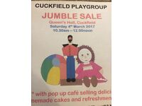 Cuckfield Preschool Jumble Sale