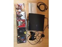 PS3 SLIM 160GB - 5 GAMES - HDMI CABLE