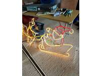 Two flashing reindeers and sleighs flashing speed choice