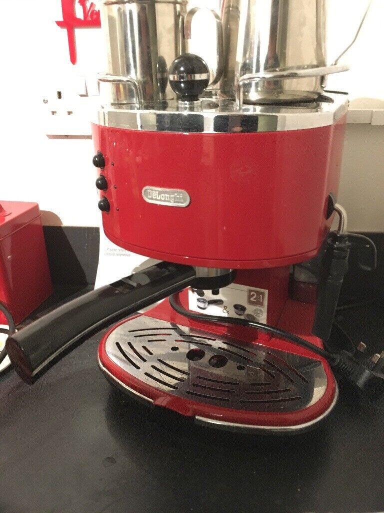 Delonghi Icona Coffee Machine Red In Yate Bristol Gumtree