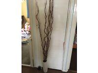 Twig lights in vase