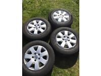 Volkswagen T5 Transporter alloy wheels and tyres