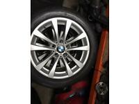 BMW F30 F31 LCI 17 INCH ALLOYS WITH TYRES