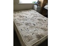 King size divan bed 2 years old