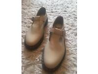 Ivory Dr Martens with Buckles - size 8
