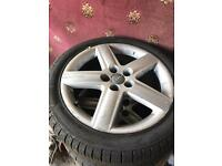 "17"" Audi 5x100 alloys with tyres golf Ford ve"
