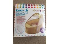 Koo-di pop up travel bassinette- brand new and unused