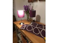 New! Pair of side lights and matching cushion covers