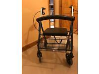 4 wheel walker with basket