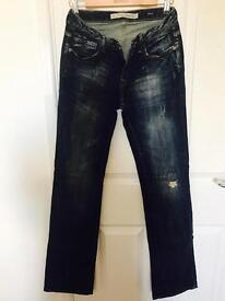 Zara TRF Women's denim wide long leg jeans 8 36 new Not TopShop Hollister Armani D&G