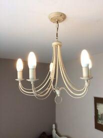 5 Arm ceiling pendant light vgc