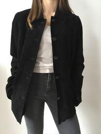 Women's black suede jacket