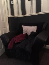 Dark brown comfy chair