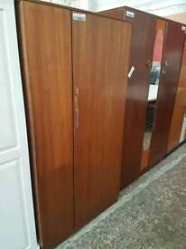 Teak single door wardrobe