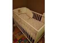 Ikea white wooden cot