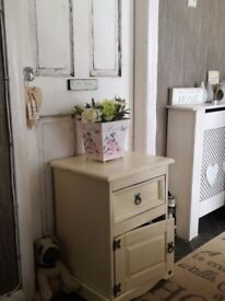 Solid wood cream cupboard with drawer £5 plus other items for sale from £5