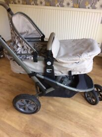 Mothercare Tusk edition 3 wheel pushchair travel system