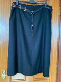 Style by EWM Linen Black Skirt Size 20 Brand New with Tags