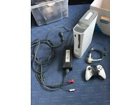 Xbox 360 console with hard drive , controller, headset and cables