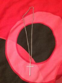 Lovely large cross and chain