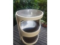 COLLECTIBLE, 1960's VINTAGE RETRO SPACE AGE SIDE/BEDSIDE CABINET