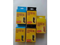 5 STAPLES Inkjet Cartridge compatible with Canon BCI