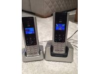 BT freestyle 310 home phones x2 silver