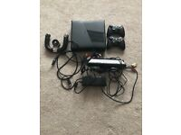 X box 360, 2wireless Control's, steering wheel, Kinect sensor and 20 games