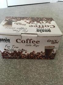 Latte glass mugs