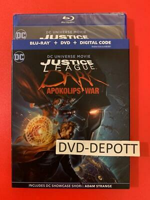 Justice League Dark: Apokolips War Blu-ray + DVD + Digital HD & Slipcover New!