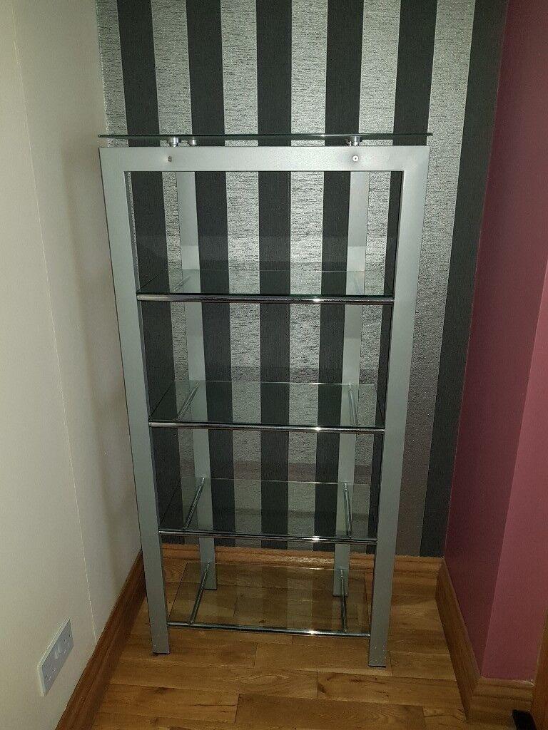 Glass shelved cabinet