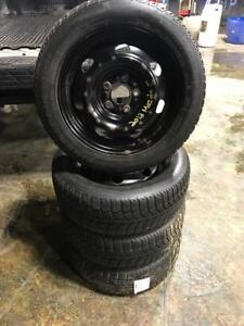 205 55R 16 UNIROYAL TIGER PAW WINTER SNOW TIRES ON RIMS 5X114.3 BOLT PATTERN MAZDA KIA HYUNDAI HONDA TOYOTA AND MORE