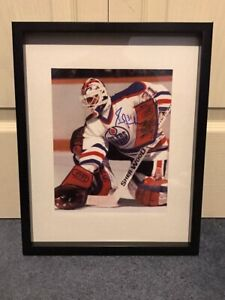Edmonton oilers Grant Fuhr signed and framed photo