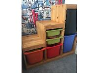 Ikea Trofast Storage Unit with plastic drawers. Playroom Children's Toy Storage.