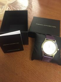 £15 brand new. Ladies purple French connection watch